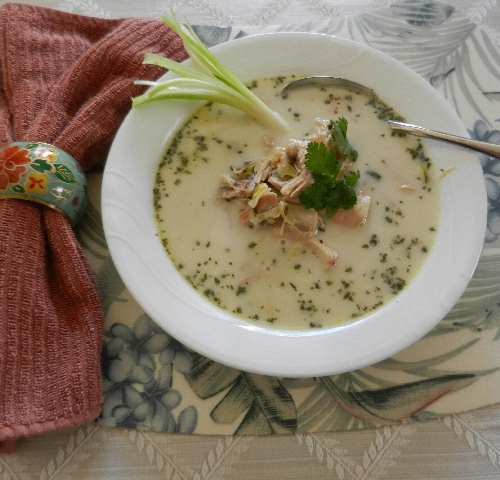Chicken Coconut Cilantro Soup