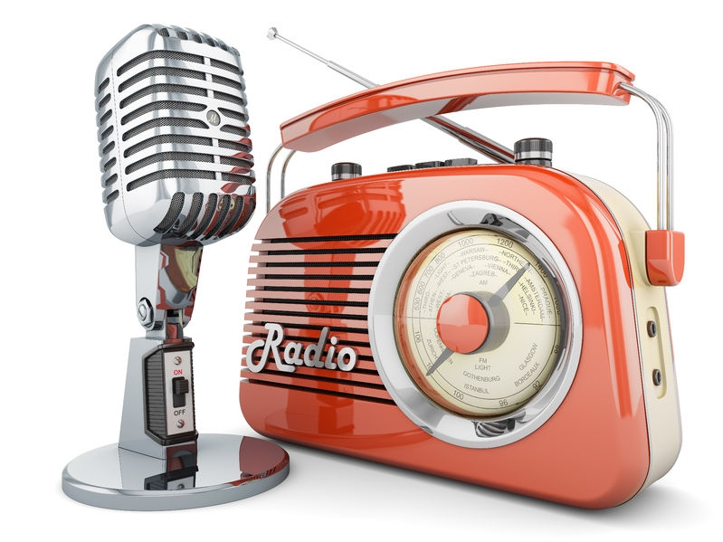 on air radio microphone retro vintage broadcasting interview transmitter