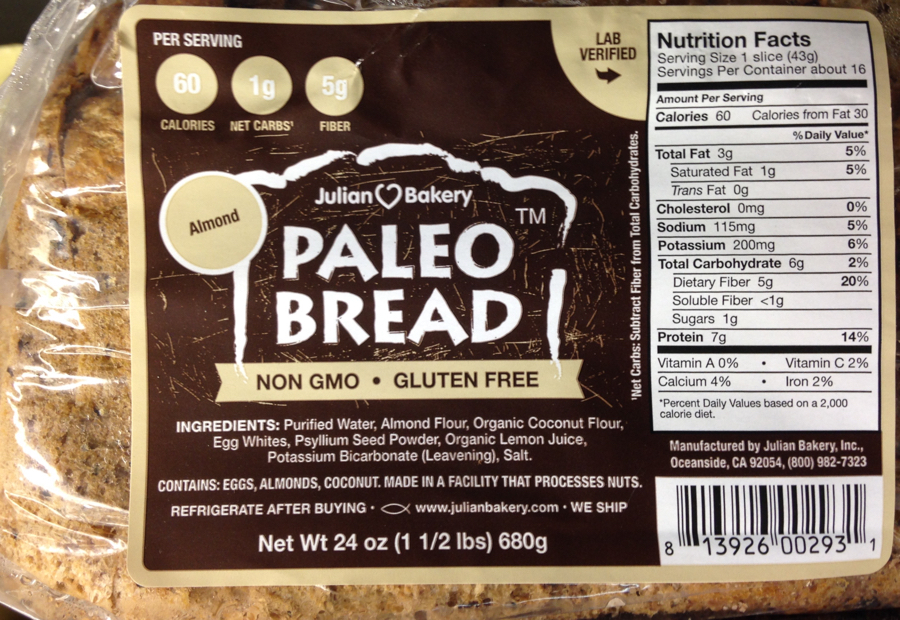 Paleo bread made from high-oxalate ingredients