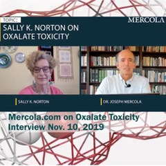 Sally and Dr. Mercola shown during their conversation.