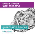 Image of cabbage supports title page for oxalate content of greens and berries